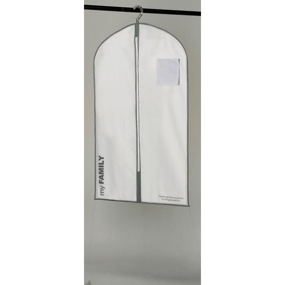 Housse de vêtements courte blanche intissée 190L
