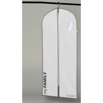 COMPACTOR - Housse de vêtements courte blanche intissée 190L
