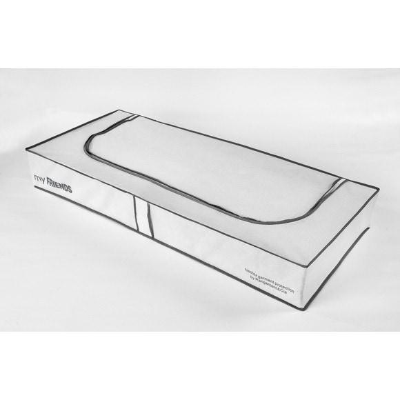 Housse de rangement intissée pour dessous de lit blanche