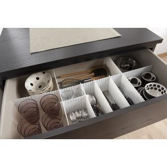 COMPACTOR - 6 séparateurs de tiroir découpable blanc