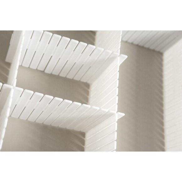 Divisorio per cassetto x6 ritagliabile bianco