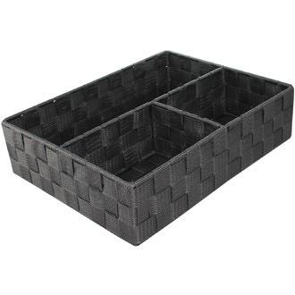COMPACTOR - Organiseur de tiroir 3 compartiments gris 23x25x8cm