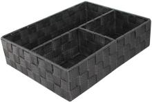 Achat en ligne Organiseur de tiroir 3 compartiments gris 23x25x8cm