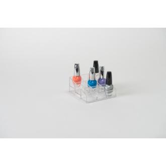 Range vernis à ongles - 9 cases 12x13x5cm