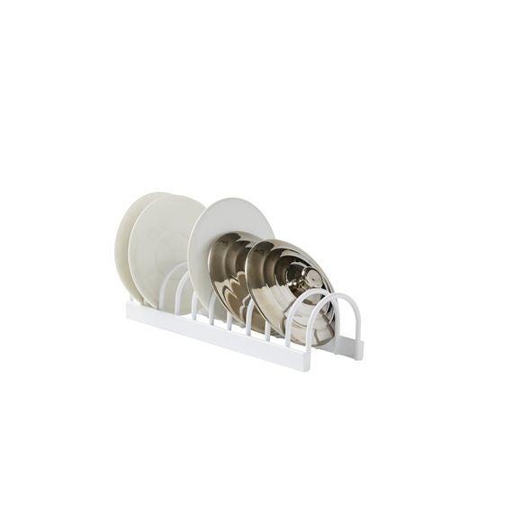 Support tasses ou petits couvercles blanc 24,5x7x6cm