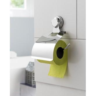 Dérouleur papier toilette à ventouses chrome