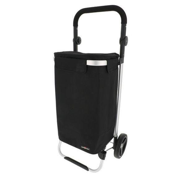 acquista online Carrello per la spesa in alluminio borsa nera in poliestere