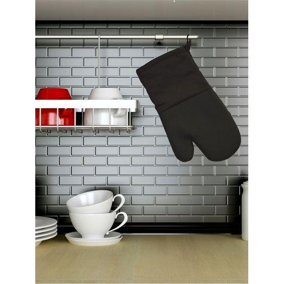 Gant de cuisine en textile/silicone noir Tymeo