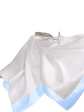Achat en ligne Set 2 torchons microfibre blanc et bleu 40x70cm
