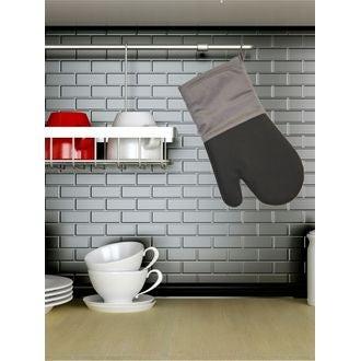 Gant de cuisine en silicone noir