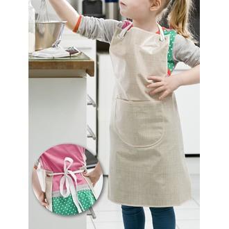 Tablier de cuisine enfant effet tissage ficelle