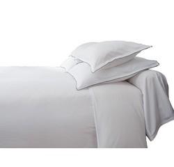 Achat en ligne Drap plat à rayures en satin blanc 240x310cm