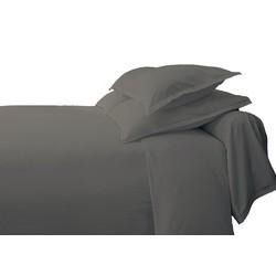 Achat en ligne Drap plat à rayures en satin gris 240x310cm