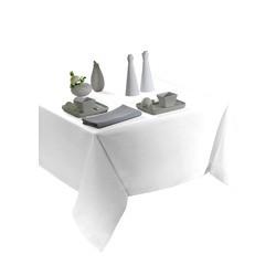 Achat en ligne Nappe 180cm en polyester blanche Tentation
