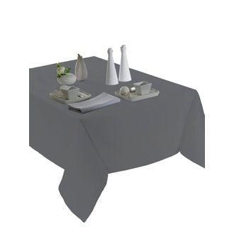 Nappe unie en polyester, zinc et Tentation 140x240cm