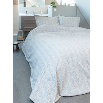 Taie 65x65cm percale pelage + passepoil
