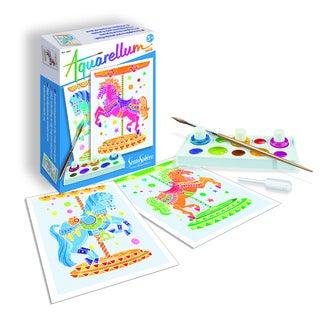 Kit créatif Aquarellum mini chevaux manège