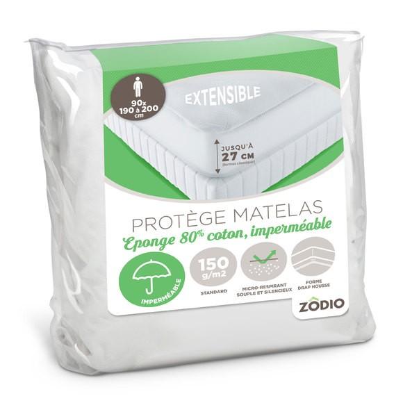 Protège matelas en éponge imperméable 90X200cm