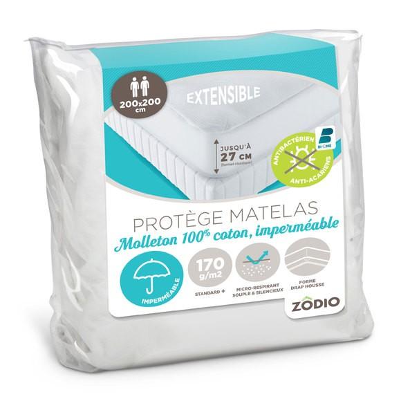 Protège matelas imperméable traitement antiacariens 200X200