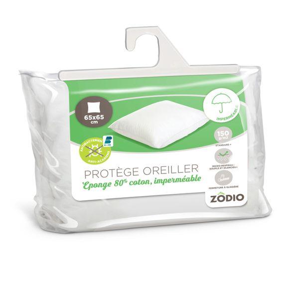 Achat en ligne Protège oreiller coton imperméable antiacariens 65X65cm