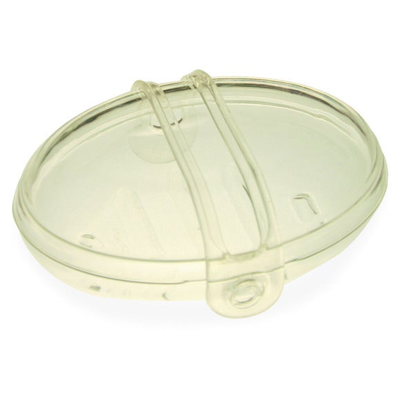Boite de savon transparente avec bande attache