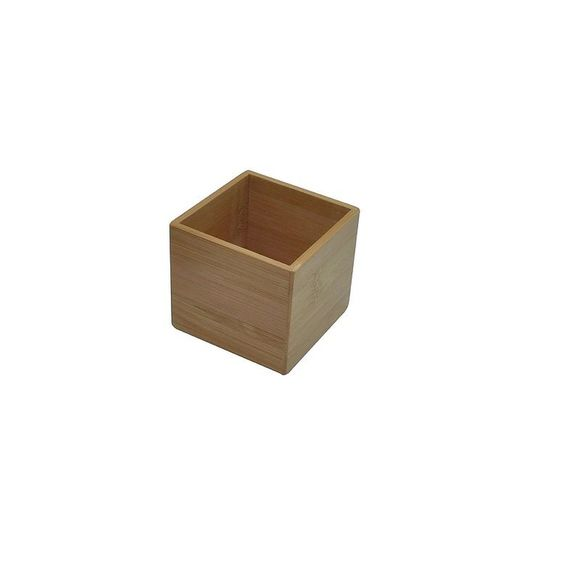 Organiseur de tiroir carré en bambou 7,5x7,5x6,5