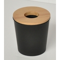 Poubelle coton noire cercle
