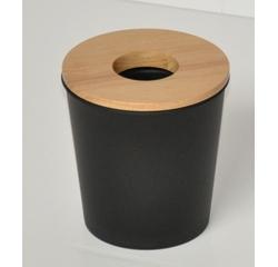 compra en línea Papelera para algodón y toallitas desmaquillantes negra