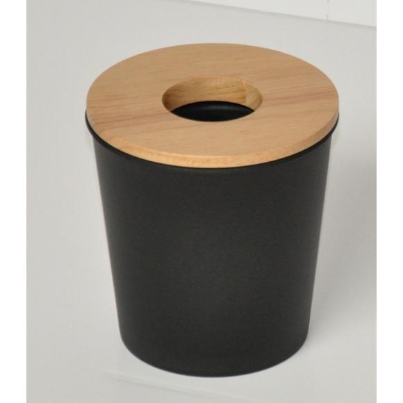 Achat en ligne Poubelle coton noire cercle