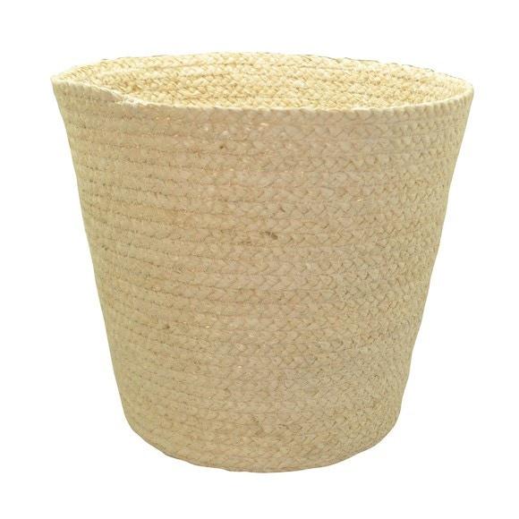Achat en ligne Poubelle ouverte tissée en fibre de maïs beige 14l
