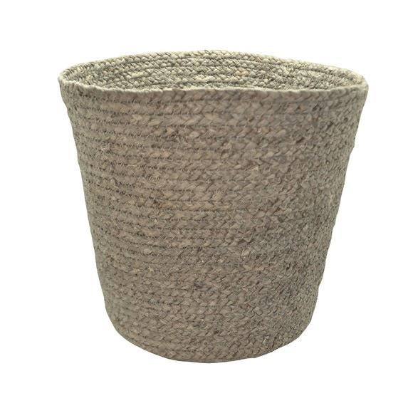 Achat en ligne Poubelle ouverte tissée en fibre de maïs taupe 14l