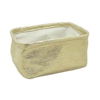 Vide poche doré en papier 20x15x9,5cm
