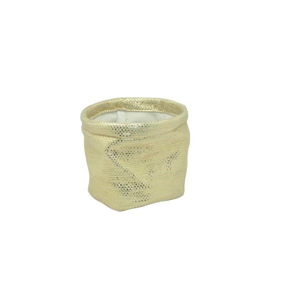 Vide poche rond doré en papier 12,5xH11cm