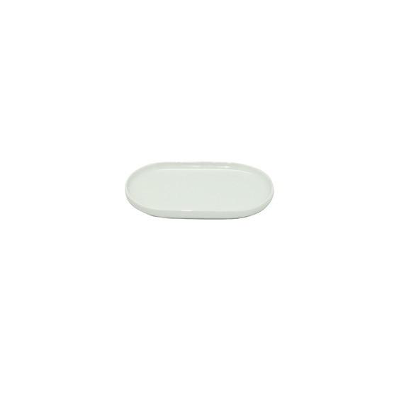 Porte savon en porcelaine blanche Dune