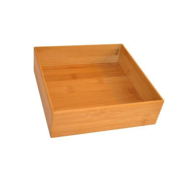 Organizer per cassetti in bamboo, 22,5x22,5x6,5 cm