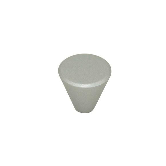Bouton de meuble cone en plastique et aluminium naturel