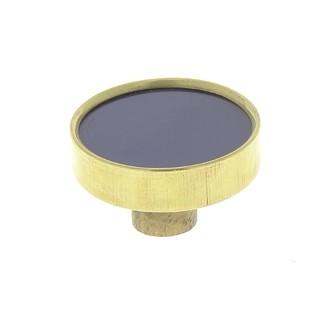 Bouton rond laiton et résine marine 3,8cm