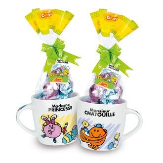 Mug MR & MME avec œufs en chocolat