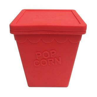 Pot à popcorn Magic pop en silicone rouge 13x15cm
