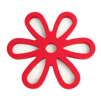 Dessous de plat magnétique à fleurs rouges