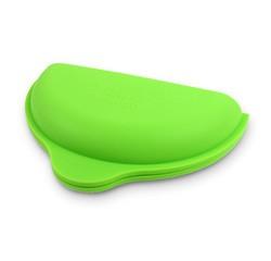 compra en línea Portatortillas de silicona verde para microondas (21 x 12 x 5 cm)