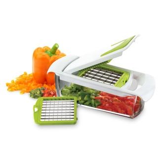 Coupe légumes à 2 lames avec peigne blanc