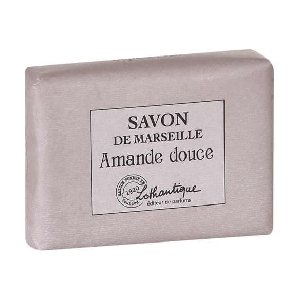 Pain de savon de marseille parfum Amande douce 100g