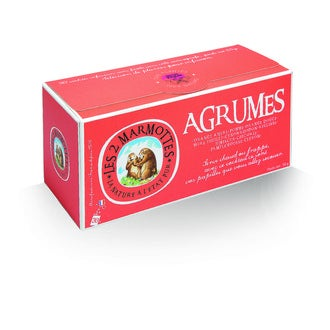 LES 2 MARMOTTES - Infusion agrumes  55g, 30 sachets
