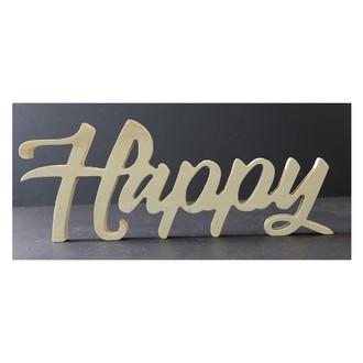 Mot à poser happy bois brut 15x39x1,8cm