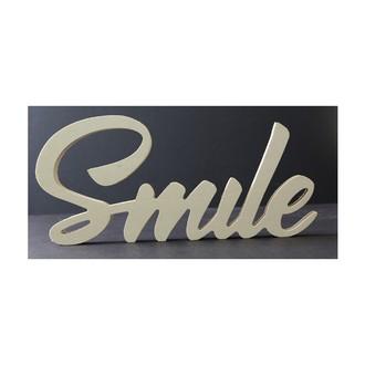 Mot à poser smile bois brut 18x39x1,8cm