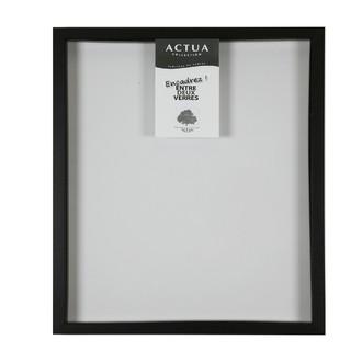 Cadre photo 30x30 entre 2 verres noir