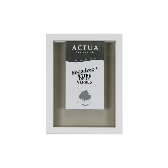 Achat en ligne Cadre photo entre 2 verres blanc 10x15cm