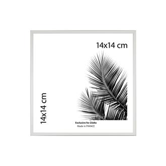 Cadre basik blanc 14x14cm