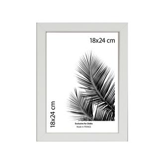 Cadre basik blanc 18x24cm